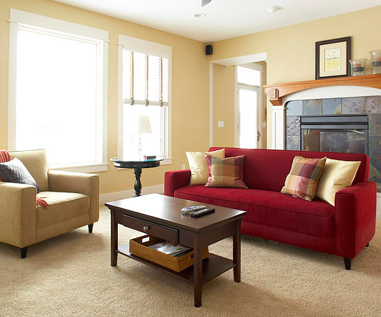 3 step makeover arrange a multiuse living room - Living Room Sofa Ideas