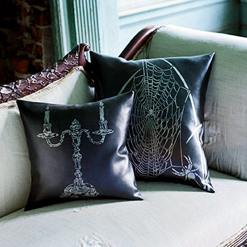 Stenciled Halloween Pillows