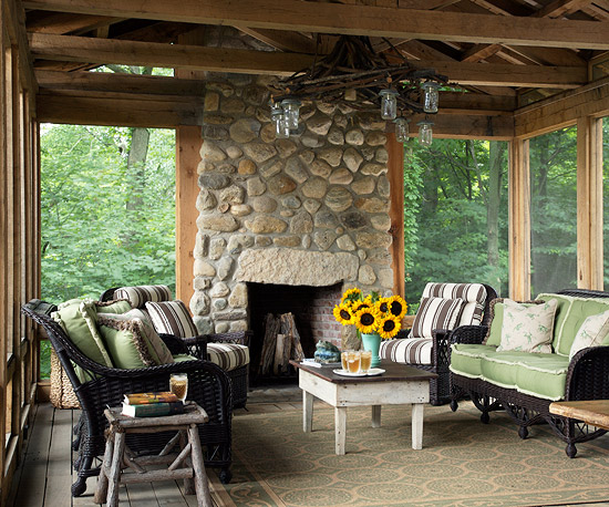 Porches sunrooms for Rustic sunrooms