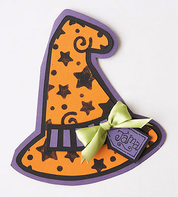 Craft a Witch's Hat Place Card for Halloween