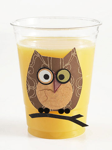 Owl Cup for Nostalgic Halloween Kids' Party