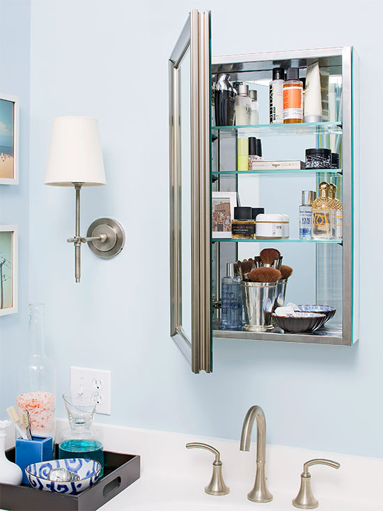 Add Storage with Bathroom Wall Cabinets