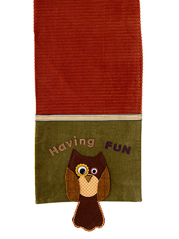 Owl Table Runner for Kids' Halloween Party