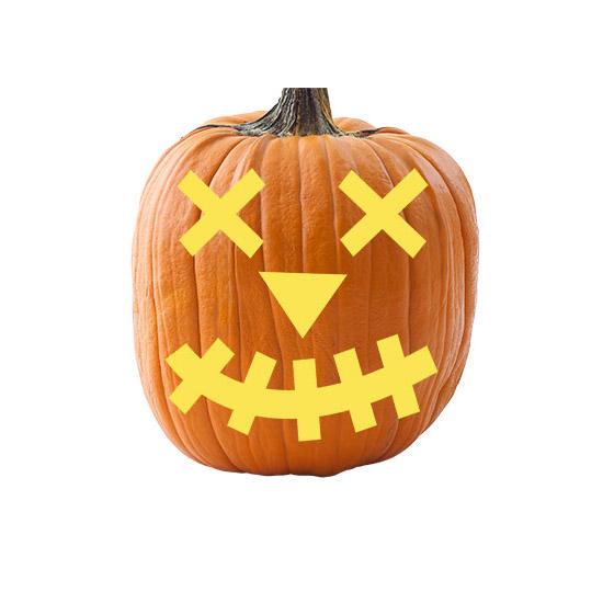 Basic Shapes Pumpkin Stencil