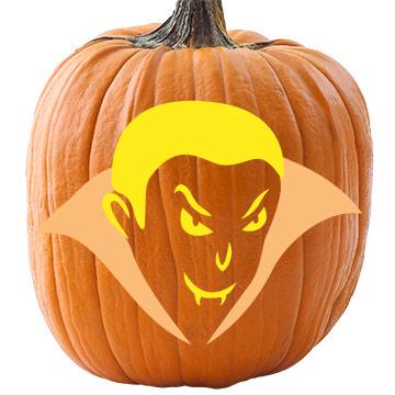 Printable vampire werewolf pumpkin stencils for halloween for Vampire teeth pumpkin stencils