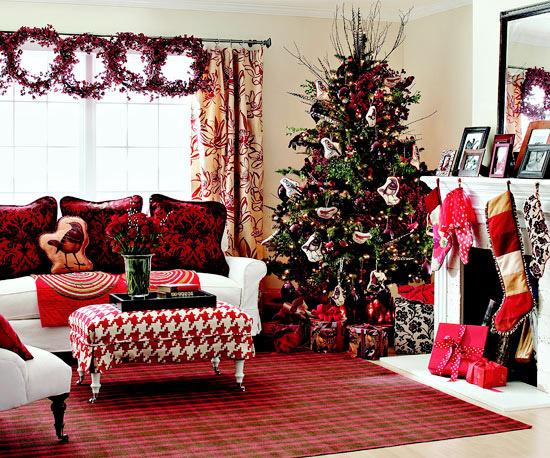 Fresh Holiday Decorating Theme Woodland Red