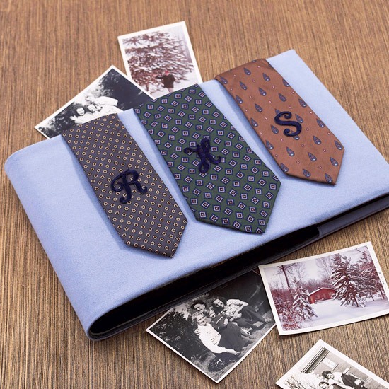 Decorate a Photo Album with Neckties