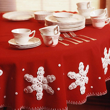 Sew a Snowflake Tablecloth for Winter