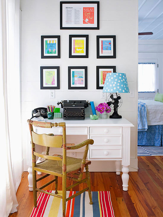 a home office. 5 Tips For Decorating A Home Office