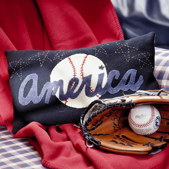Make a Baseball Applique Pillow