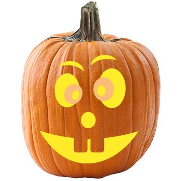 Bucktooth Pumpkin Stencil