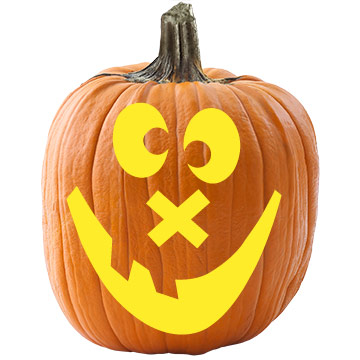 Cross-Eyed Pumpkin Stencil