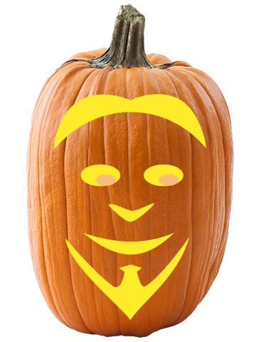 Goatee Guy Pumpkin Stencil