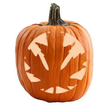 Maple Leaf Pumpkin Stencil