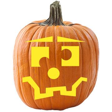Jumbled Face Pumpkin Stencil