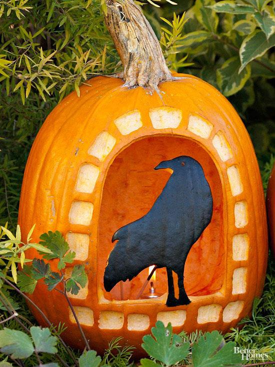 Raven Pumpkin Stencil