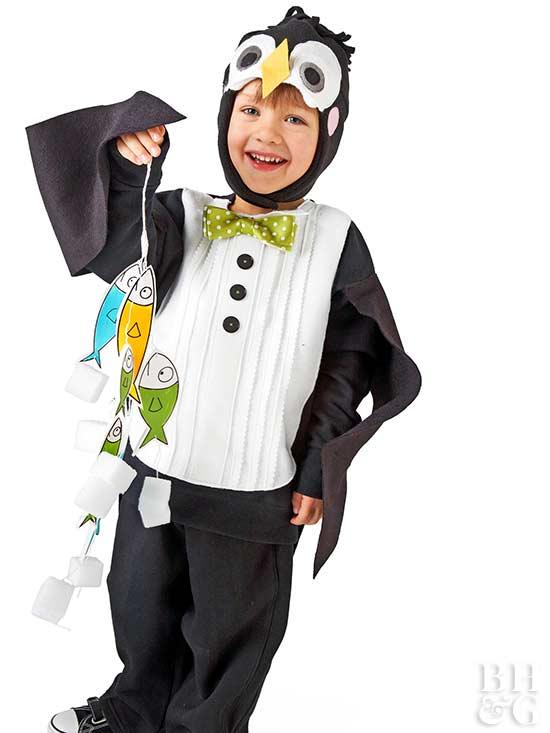 Black-and-White Penguin Costume for Halloween