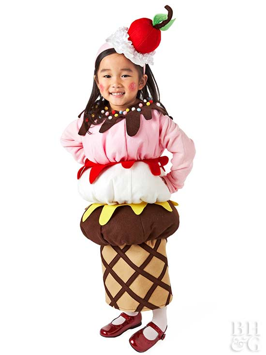 Ice Cream Cone Kid Halloween Costume