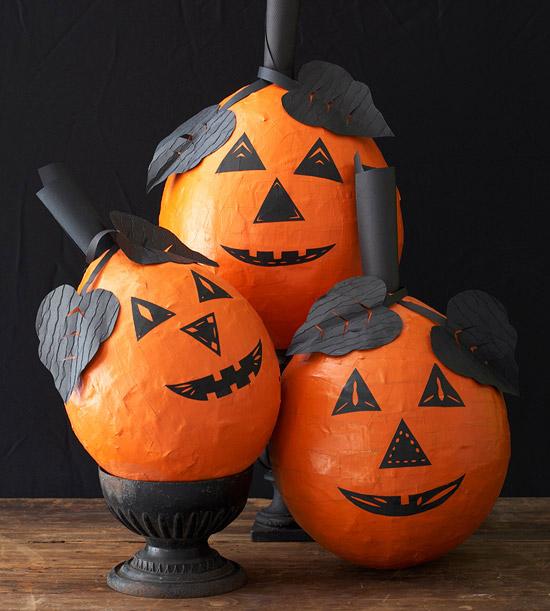 Better Homes And Gardens Sweepstakes >> Papier Mache Halloween Pumpkin Craft