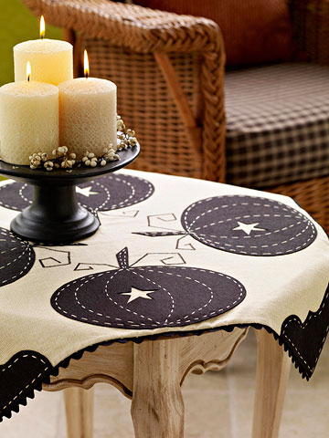 Pretty Pumpkin Tablecloth for Fall