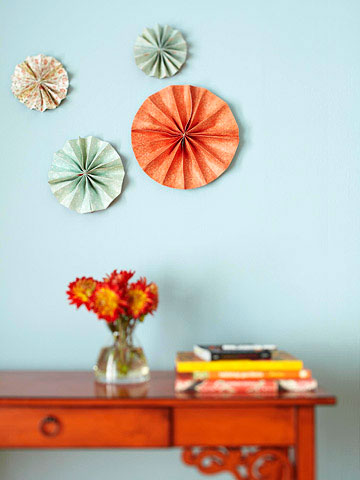 Wall art project pinwheels