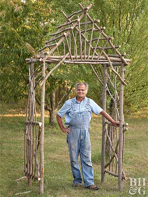 make your own arbor - Garden Structures