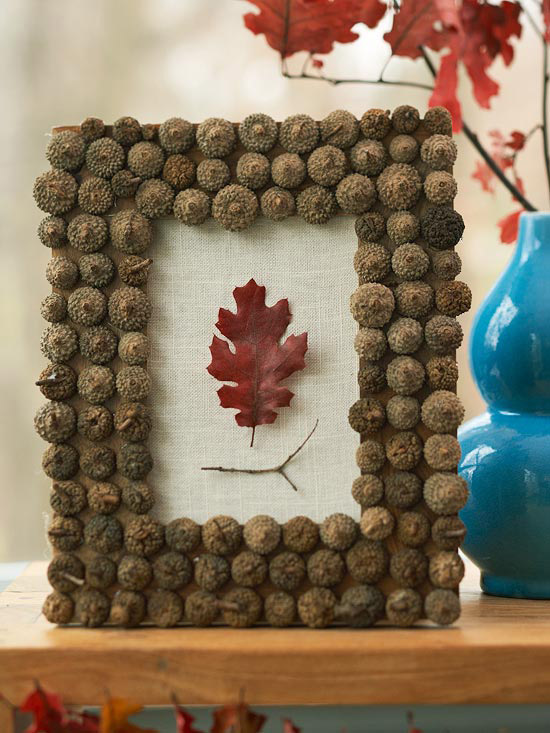 Fall Decorating With Nature: Acorns And Leaves From Better Homes And Gardens