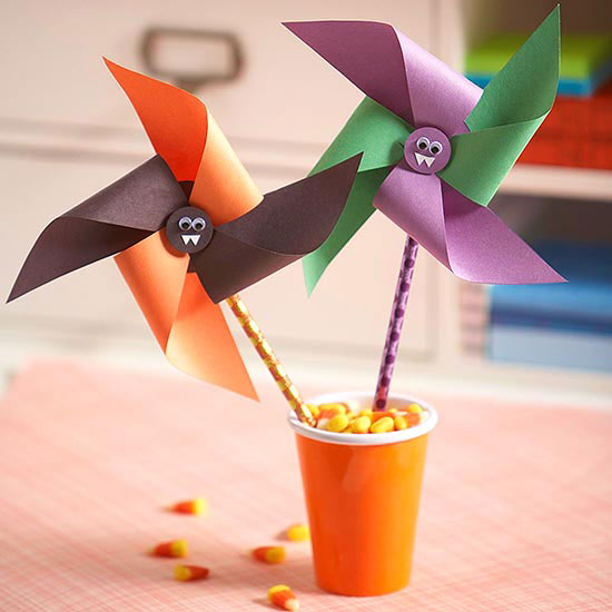 Halloween Bat Pinwheels