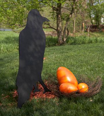 Raven Yard Silhouette for Halloween