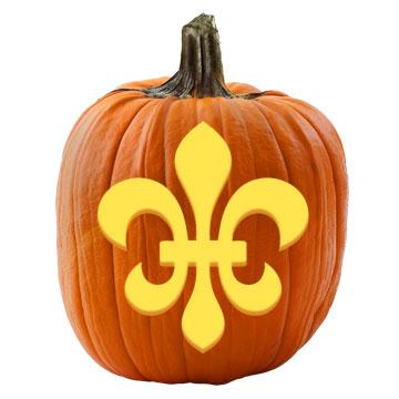 Fleur-de-Lis Pumpkin Stencil