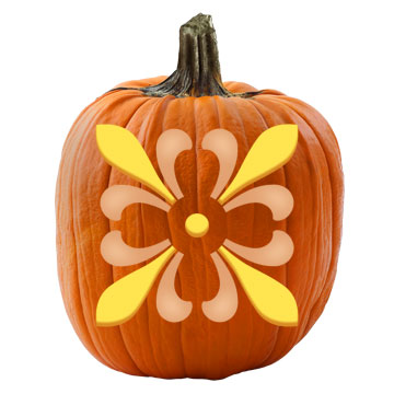 Kaleidoscope Pumpkin Stencil