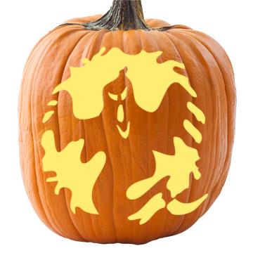 Ghostly Greeter Pumpkin Stencil