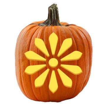 Gothic Flower Pumpkin Stencil