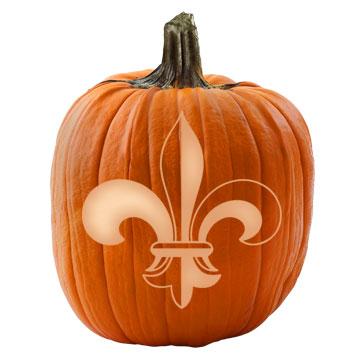 Knight's Fleur-de-Lis Pumpkin Stencil
