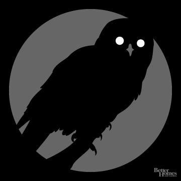 Eerie Owl Pumpkin Stencil