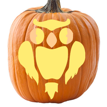 Spooky Owl Pumpkin Stencil