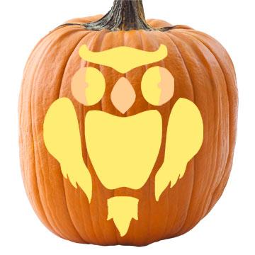 Spooky owl pumpkin stencil pronofoot35fo Choice Image