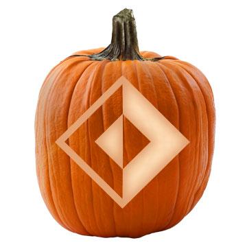 Southwestern Diamond Pumpkin Stencil