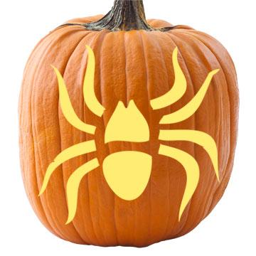 Spider Pumpkin Stencil