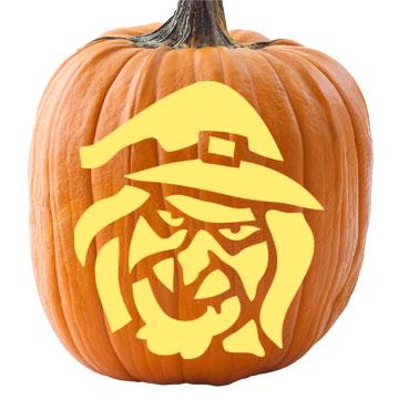 Witch Pumpkin Stencil