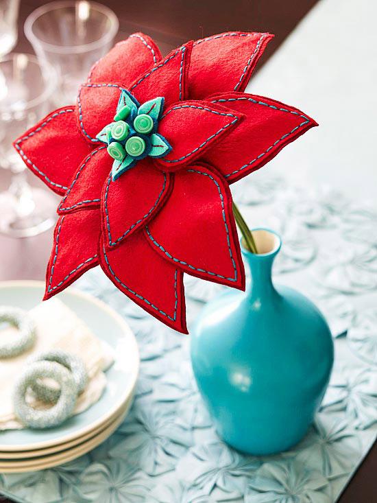 Felt Poinsettia Bloom