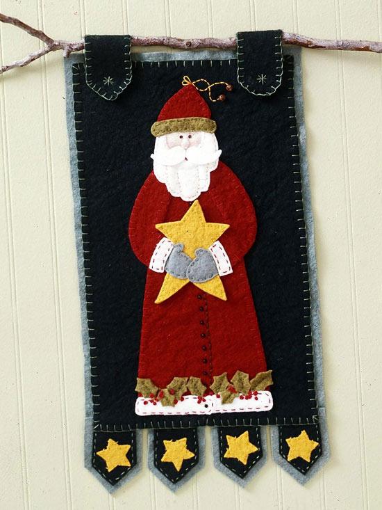 Wool Felt Santa Banner