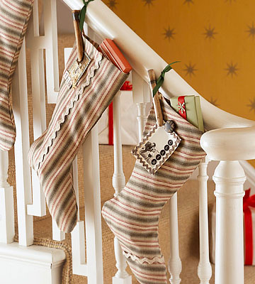 Simple Striped Christmas Stockings