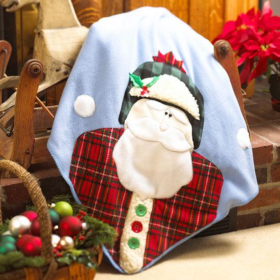 Cozy Santa Christmas Blanket