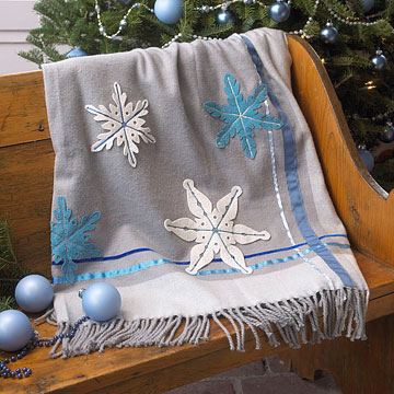 Easy-to-Make Snowflake Blanket
