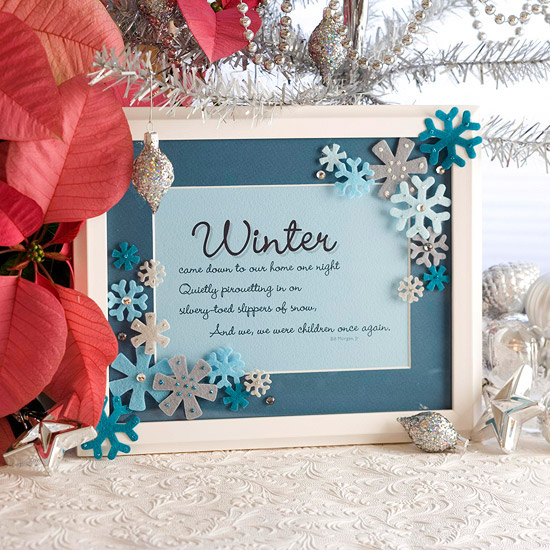 Snowflake Message Frame