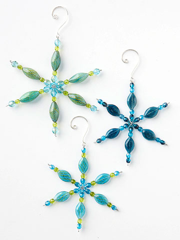 Beaded Snowflake Christmas Ornament