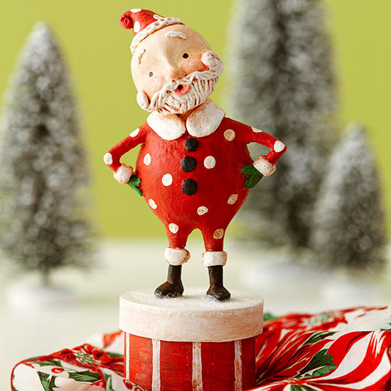 Whimsical Santa Claus Sculpture