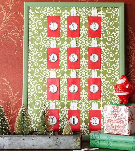 Christmas Board Design.12 Days Of Christmas Bulletin Board Calendar Better Homes