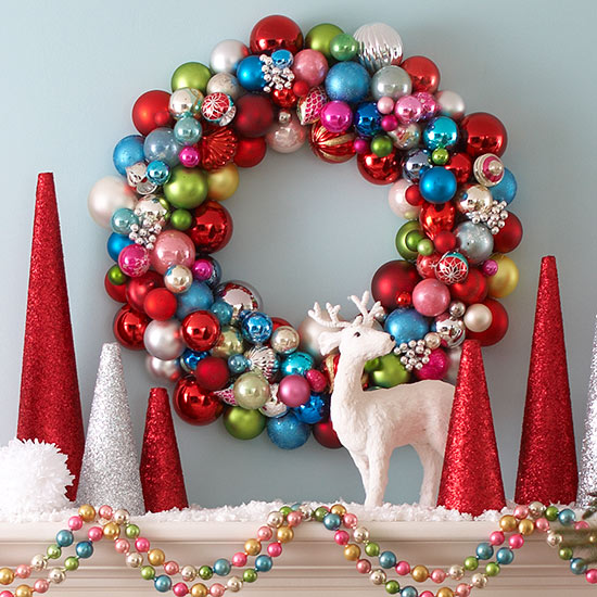decorating with christmas ornaments - Red And Turquoise Christmas Decorations
